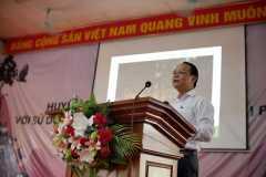 7. Trần Xuân Cường - giám đốc VQG Pù Mát trình bày bài giới thiệu về các nỗ lực bảo tồn của VQG Pù Máy/ Mr.Tran Xuan Cuong - director of Pu Mat National Park presents an introduction to the conservation efforts of Pu May National Park