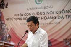 8. Ông Hoàng Sĩ Kiên - Chủ tịch UBND huyện Con Cuông tuyên bố khởi động chuỗi sự kiện/ Mr. Hoang Si Kien - Chairman of Con Cuong District People\'s Committee announced the launch of the series of events